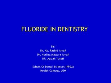 fluoride in dentistry - usm