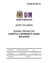 audit dalaman makmal perubatan hospital universiti sains malaysia