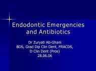 Endodontic Emergencies And Antibiotics