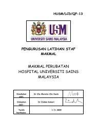 MAKMAL PERUBATAN HOSPITAL UNIVERSITI SAINS MALAYSIA