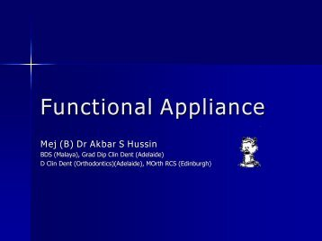 Functional Appliance