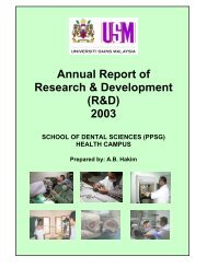 Annual Report of Research & Development (R&D) 2003