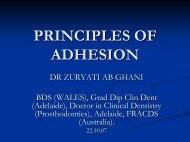 PRINCIPLES OF ADHESION