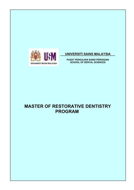 MASTER OF RESTORATIVE DENTISTRY PROGRAM - USM
