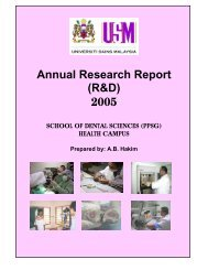 Annual Research Report (R&D) 2005 - Kampus Kesihatan - USM