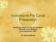 Instruments For Canal Preparation