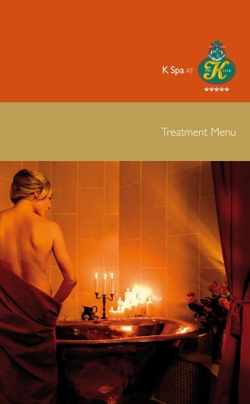 Treatment Menu - K Club