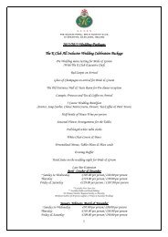 2012/2013 Wedding Packages The K Club All Inclusive Wedding ...