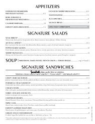 View Our Lunch Menu