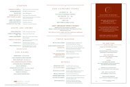 View Our Dinner Menu