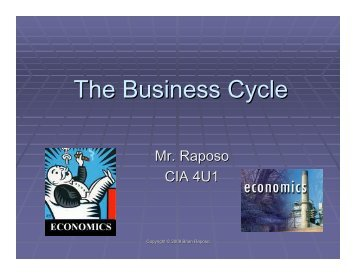 The Business Cycle and Canadian GDP growth