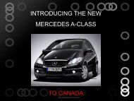 INTRODUCING THE NEW MERCEDES A-CLASS TO CANADA