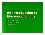 Chapter 8: Measures of Economic Activity
