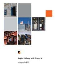 Letno poročilo Skupine KD Group in KD Group ... - skupina kd group