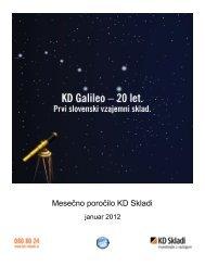 mesečna poročila investicijskih skladov za januar 2012 - KD Skladi