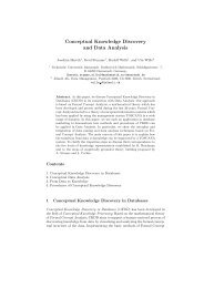Conceptual Knowledge Discovery and Data Analysis - CiteSeerX