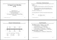 5.6 Support Vector Maschines (SVM) Erinnerung: Funktionslernen ...