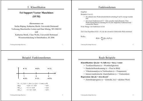 5. Klassifikation 5.6 Support Vector Maschines (SVM ...