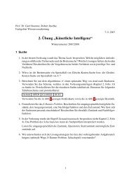 2. Übung - Fachgebiet Wissensverarbeitung