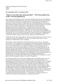 Pressemitteilung vom 29.9.2010 - Fachgebiet Wissensverarbeitung ...