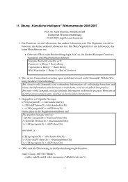 Lösung 11 - Fachgebiet Wissensverarbeitung