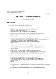 11. Übung - Fachgebiet Wissensverarbeitung