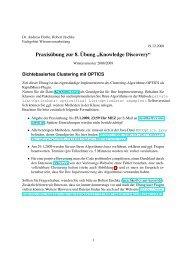 Praxisübung zur 8. Übung - Fachgebiet Wissensverarbeitung
