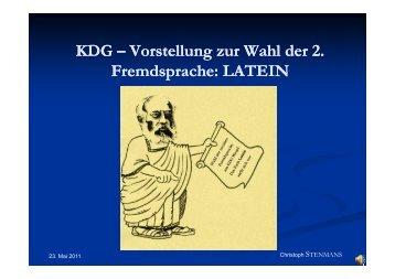 Latein - KDG-Wesel Termine