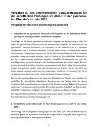 Vorgaben Abitur 2013 - Standardsicherung NRW