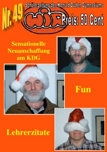 Schülerzeitung Dezember 2004 unfertige Version - KDG-Wesel ...
