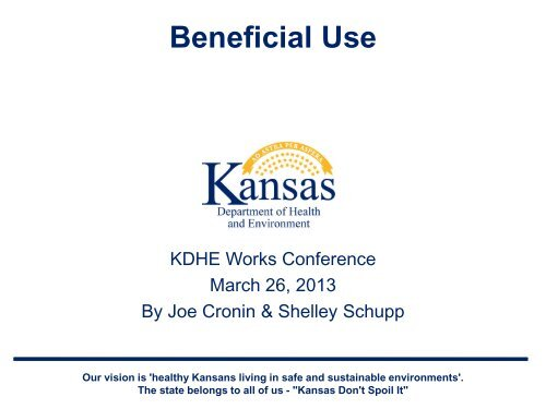 Beneficial Use - Kansas Department of Health & Environment