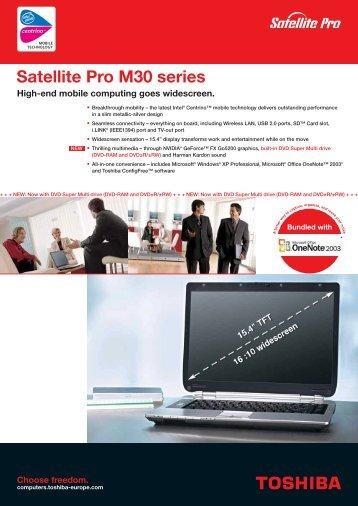 Satellite Pro M30 series - Computer Systems - Toshiba