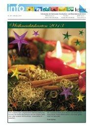 Weihnachtskarten 2013 - kdmz