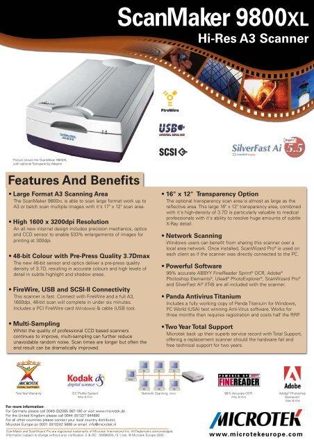 ScanMaker 9800XL Info Ee V11