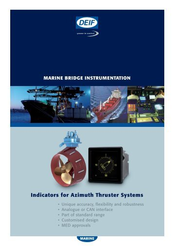 Indicators for Azimuth Thruster Systems - Deif