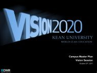 Campus Master Plan Vision Session - Kean University