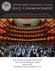 radNewsletter singles - Kean University