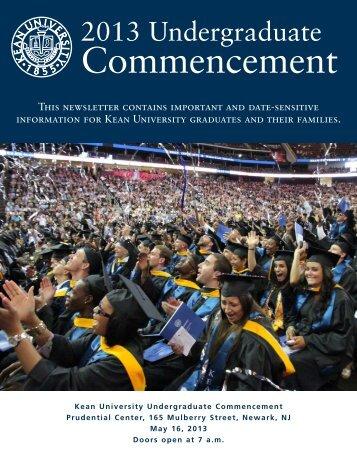 2013 Undergraduate Commencement - Kean University