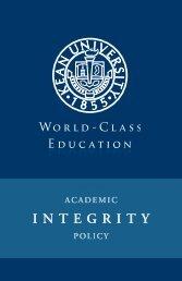 Academic Integrity Policy - Kean University