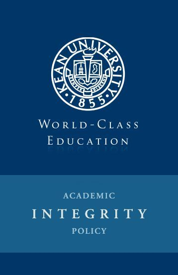 management and academic integrity policy Academic integrity means honesty, responsibility and the maintenance of academic standards in scholarship honesty in scholarship means that all academic work results from an individual student's own efforts and that credit is given to other peoples' ideas.