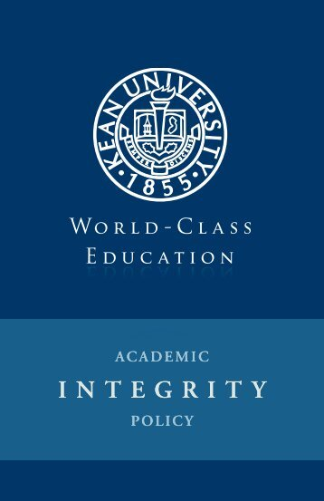 Academic Integrity Policy - Kean University