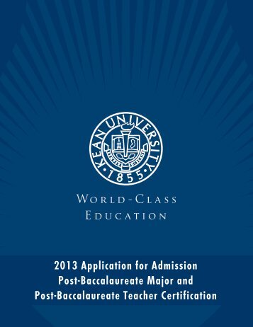 2013 Application for Admission Post ... - Kean University