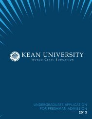 Undergraduate application for freshman admission - Kean University
