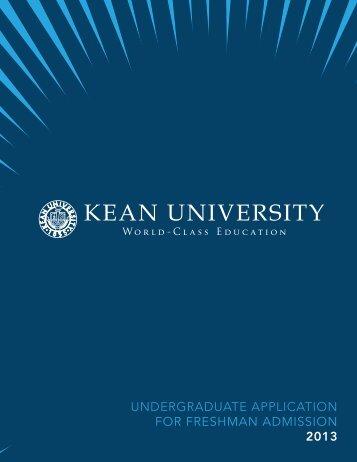 Undergraduate application for freshman admission - Kean University