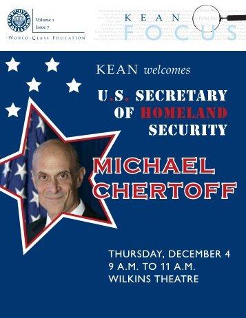 MICHAEL MICHAEL CHERTOFF MICHAEL ... - Kean University