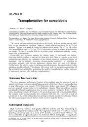Chapter 22 Transplantation for sarcoidosis