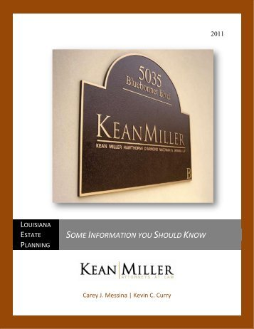 Some Information you Should Know - Kean Miller LLP