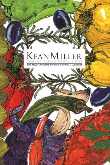 Please accept this recipe book from - Kean Miller LLP