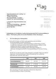 Stellungnahme der KILAG zur 6. Sitzung der Entquêtekommission