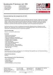 Facebook Marketing - Kurs kompakt - Computer-Systeme Dipl.-Ing ...